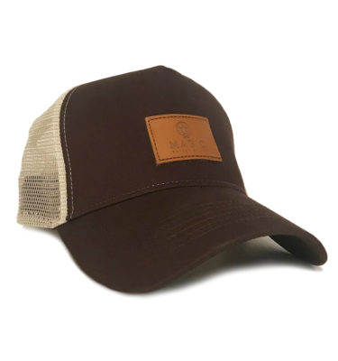 TRUCKER LOGO LEATHER